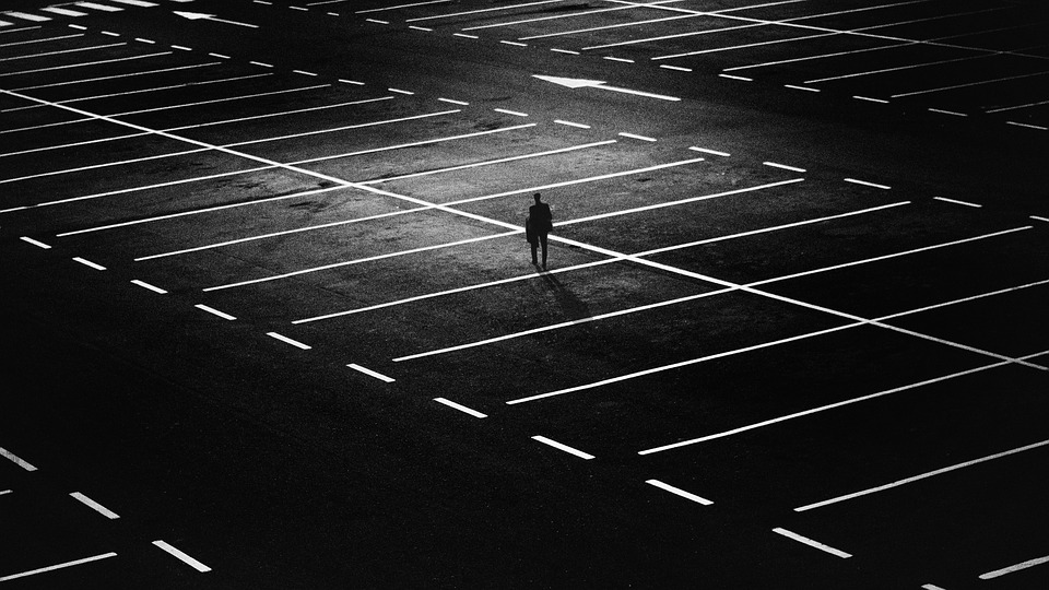 darkness parking lot